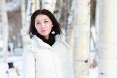 Fille en hiver Photos libres de droits