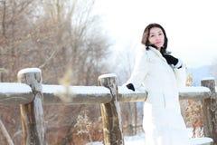 Fille en hiver Image libre de droits