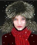 Fille en hiver Photos stock