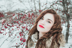 Fille en hiver Photos stock