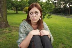 Fille en larmes Photographie stock libre de droits