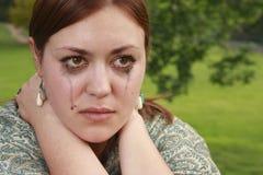 Fille en larmes photos libres de droits