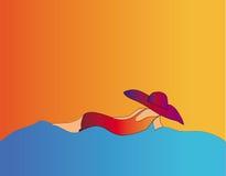 Fille en mer Photographie stock libre de droits