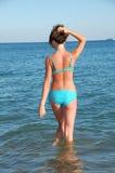 Fille en plage Image libre de droits