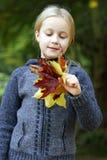 Fille en stationnement d'automne photos libres de droits