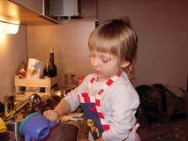 Fille en tant que cuisinier Photo libre de droits