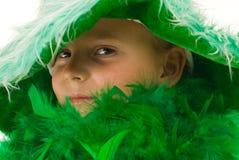 Fille en vert Images libres de droits