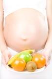 Fille enceinte Images libres de droits