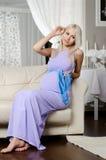 Fille enceinte Photo stock