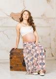 Fille enceinte Photo libre de droits
