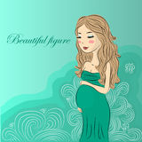 Fille enceinte illustration de vecteur