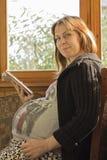 Fille enceinte Photographie stock libre de droits