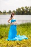 Fille enceinte avec des guindineaux Images libres de droits