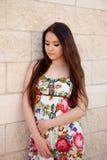Fille espagnole de brune avec de longs cheveux Photographie stock libre de droits