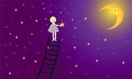 Fille et étoile Illustration Stock