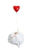 Fille et ballon Photographie stock libre de droits