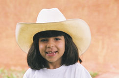 Fille et chapeau Image stock