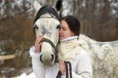 Fille et cheval Images libres de droits