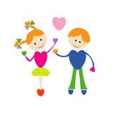 Fille et garçon Illustration de Vecteur