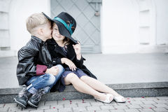 Fille et garçon Images stock