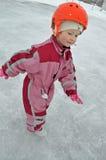 Fille et glace Image libre de droits