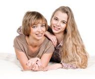 Fille et mère Image libre de droits