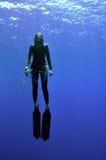 Fille et mer Images libres de droits
