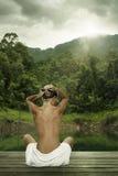 Fille et nature photographie stock