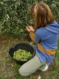 Fille et olives 2 Photographie stock libre de droits