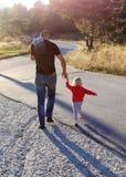Fille et père Photographie stock