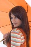 Fille et parapluie Image libre de droits