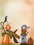 Fille et potiron illustration de vecteur