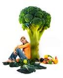 Fille et vegetabes Images libres de droits
