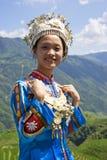 Fille ethnique chinoise dans la robe traditionnelle Photos libres de droits