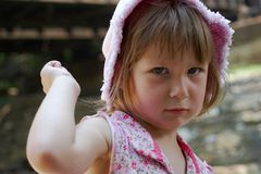 Fille fâchée Image stock