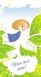 Fille féerique bleue Photo stock