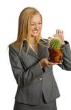 fille folle de cactus Photo libre de droits