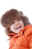 Fille gaie de l'hiver images stock