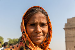 Fille gitane indienne, New Delhi, Inde Photo stock