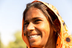 Fille gitane indienne, New Delhi, Inde Photographie stock