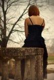 Fille gothique Photo stock