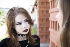 Fille gothique photographie stock libre de droits