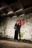 Fille grunge de valentine Photographie stock