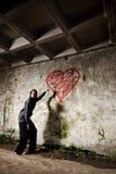Fille grunge de valentine Image libre de droits
