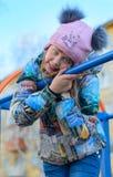 Fille heureuse. Image stock