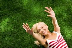 Fille heureuse Image libre de droits