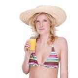 Fille heureuse de bikini Image stock