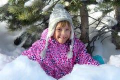 Fille heureuse de l'hiver Photo libre de droits
