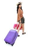 Fille heureuse partant en vacances Image stock
