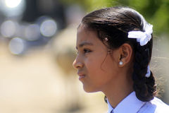 Fille indienne d'école Photos libres de droits